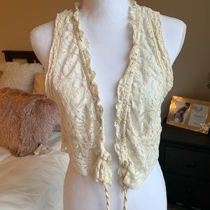 Free People Boho Crochet Vest